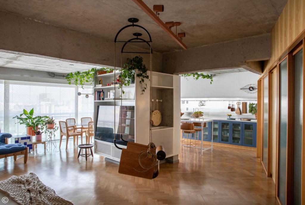 Apartamento BW - Paraíso - Projeto Vapor arquitetura+ Renata Gaia arquitetura, 2019. Fotografia: Lufe Gomes