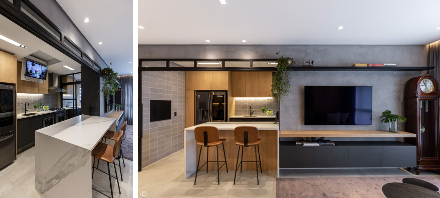 Apartamento Meine – Novo Hamburgo - Projeto 6mm Arquitetura, 2019. Fotografia: Marcelo Donadussi