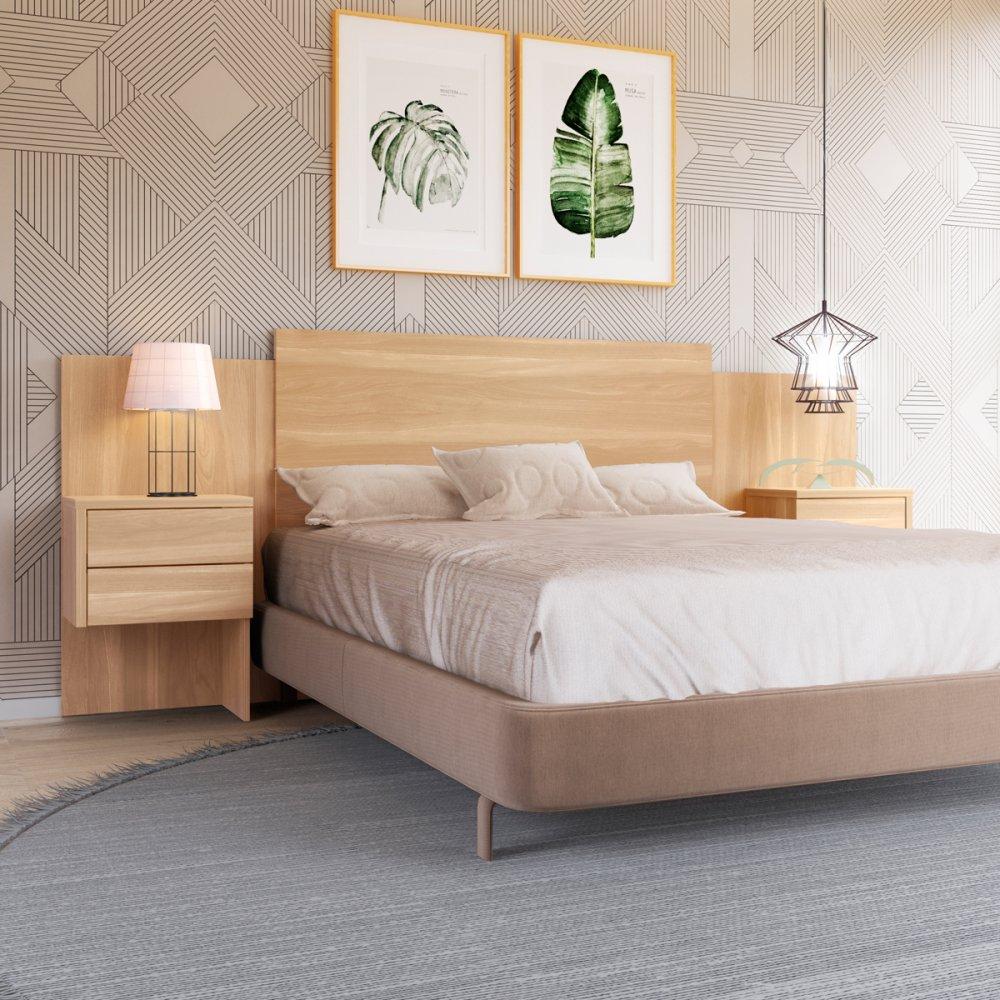 Cabeceira de cama em madeira