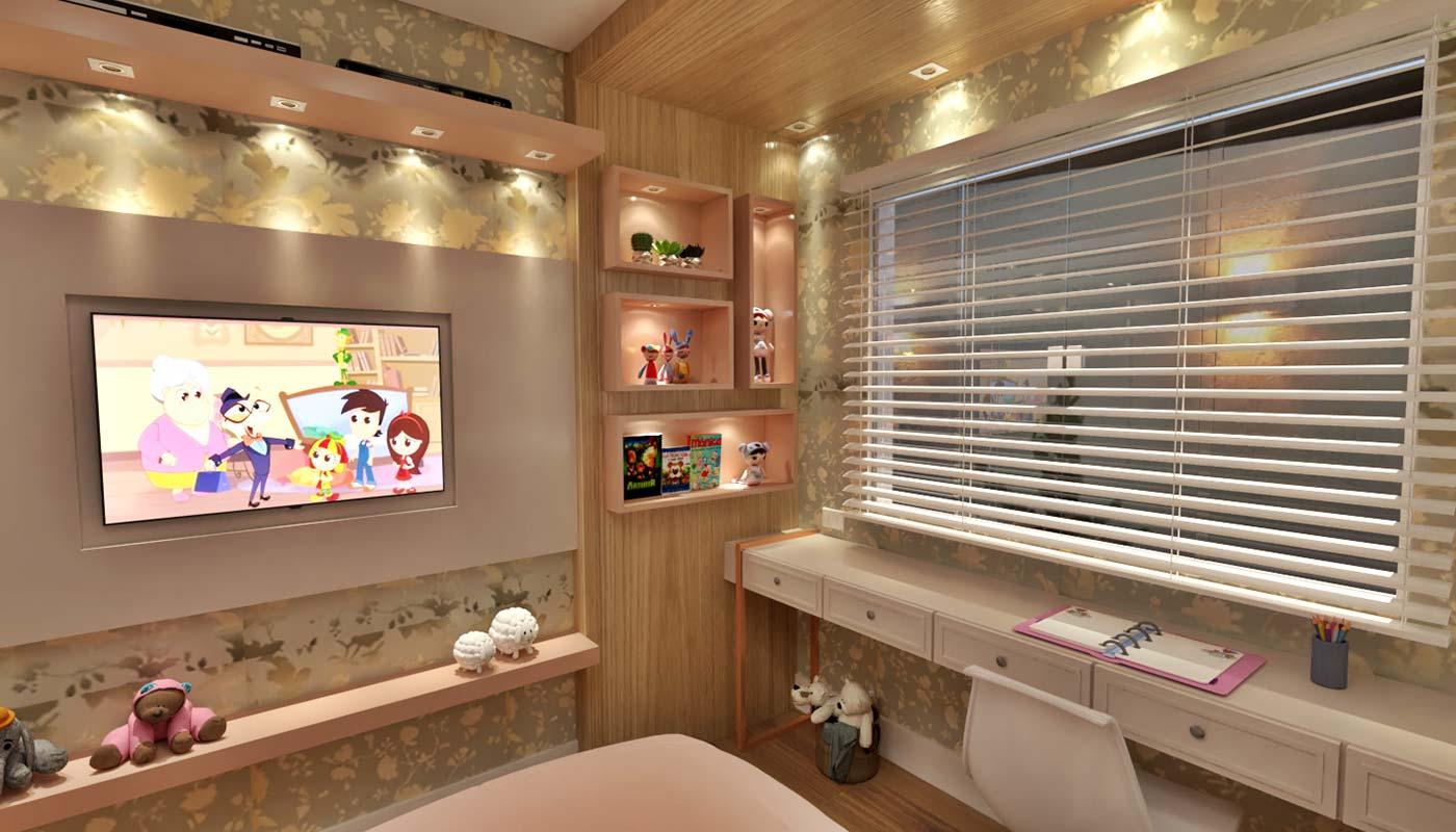 Exemplo de iluminação quarto aconchegante