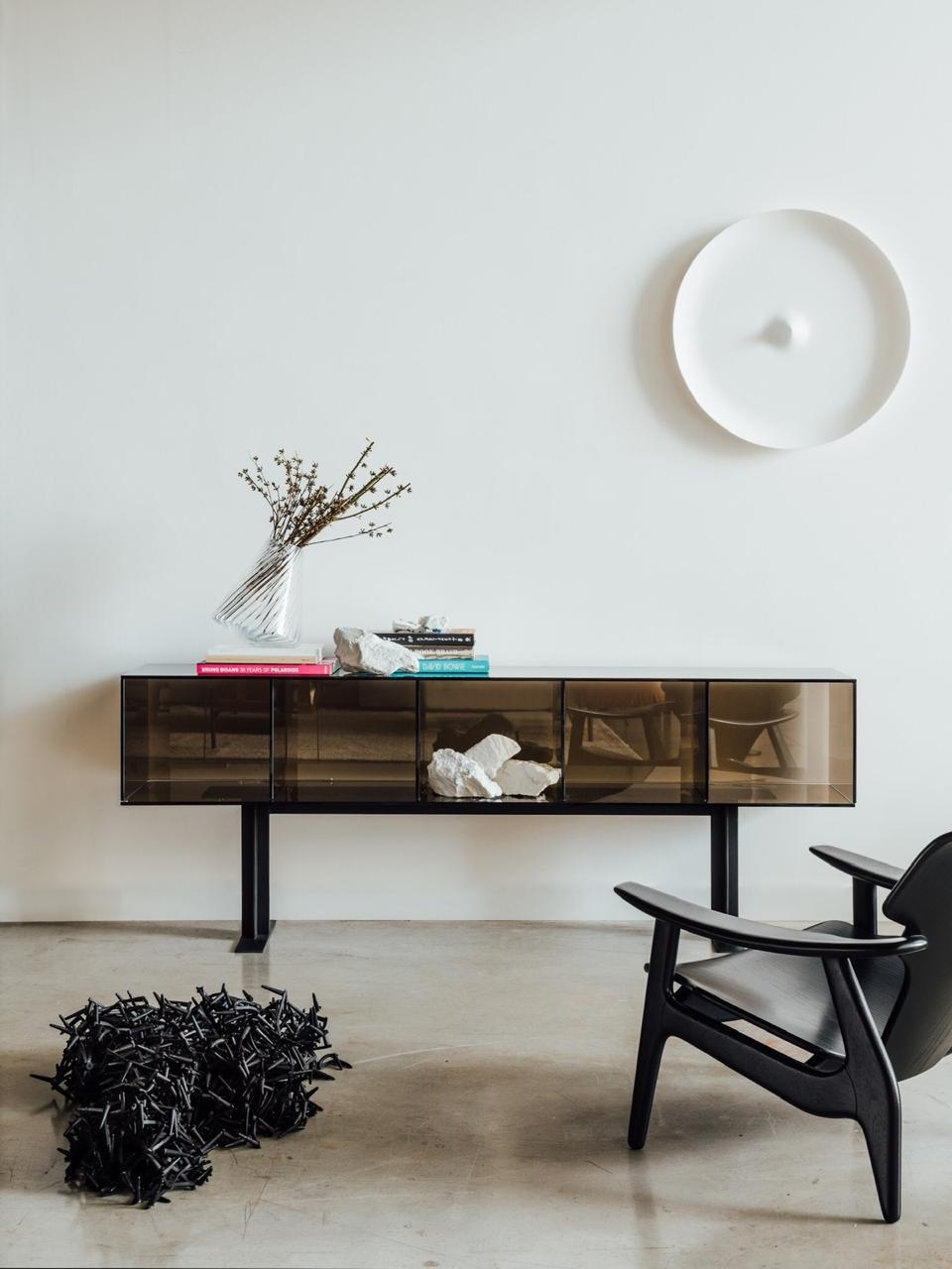 vidro na decoração de móveis